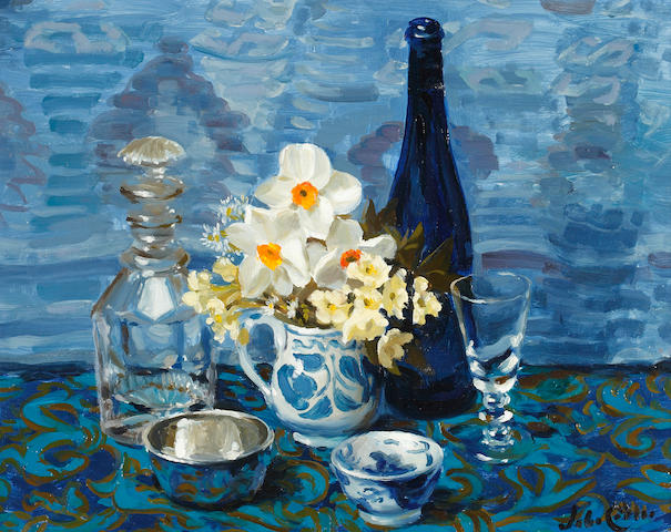 John (Codner) Whitlock (British, b.1913) 'No 4. Blue Still Life'