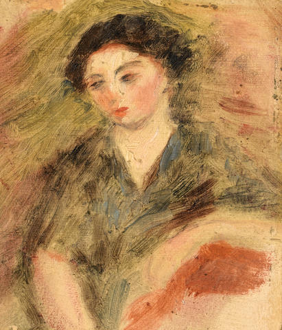 Pierre-Auguste Renoir (French, 1841-1919) Portrait allegedly of Gabrielle, the artist's housemaid