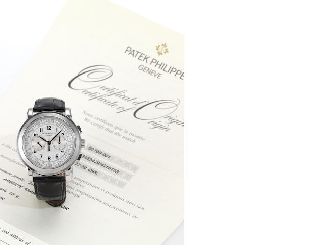 A Patek Philippe 5070   box garantie and certificate