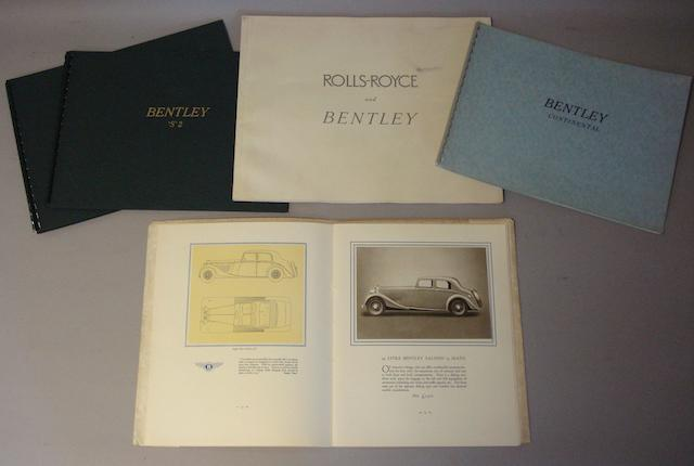 A sales brochure for Bentley 4¼ Litre cars, October 1937,