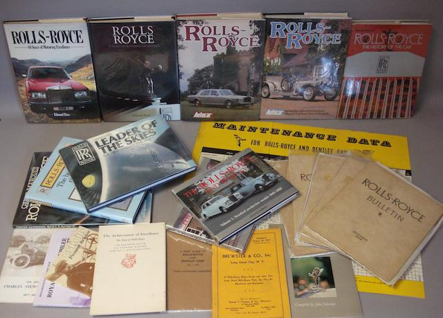 A quantity of Rolls-Royce books and literature,