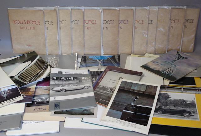 Twelve Rolls-Royce Bulletins; Jan 1952 to Jan 1958,