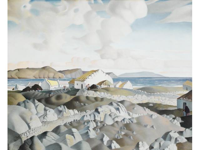 Harry Epworth Allen (British, 1894-1958) Clare Island 47 x 57.5 cm. (18 1/2 x 22 3/4 in.)