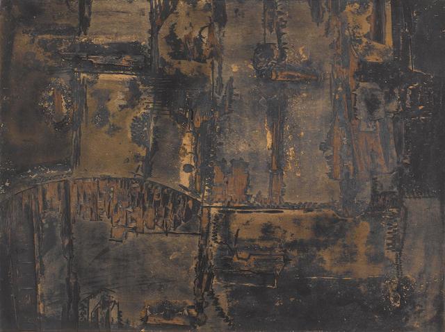 Lucio Muñoz (Spanish, 1929-1998) 'Pintura No 17', 1959