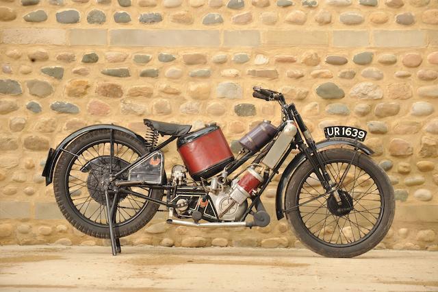 The ex-Oliver Langton,1928 Scott 500cc Two-speed Super Squirrel  Frame no. 2634 Engine no. Z1326A