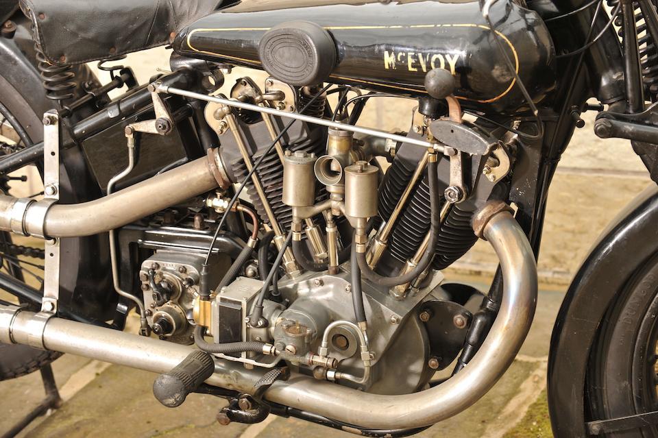 The ex-Alf Briggs and Eric Houseley,1928 McEvoy-JAP 8/45hp 980cc V-twin  Frame no. LY8128 Engine no. KTOR/C11224