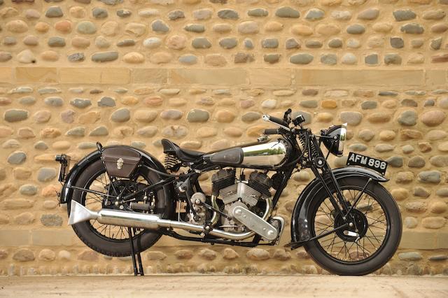1936 Brough Superior 982cc SS80  Frame no. M8/1675 Engine no. BS/X4 4391