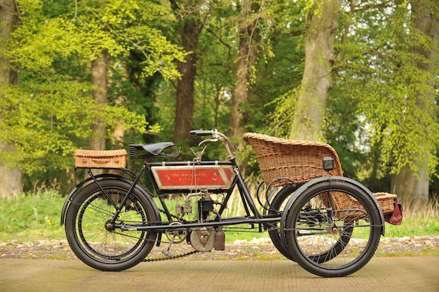 1905 The Waddington Motorcycle 3hp Forecar  Frame no. 1903/77 Engine no. 4785