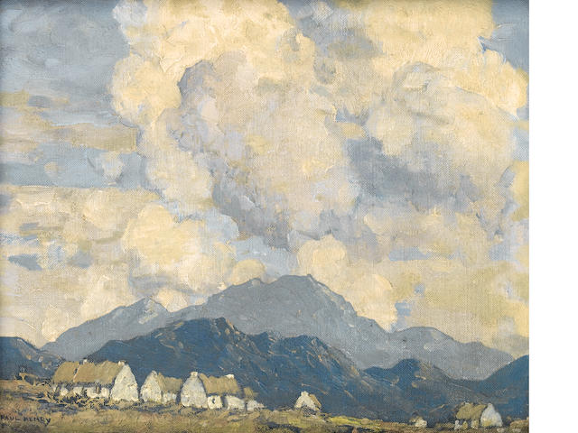 Paul Henry R.H.A. (1876-1958) A village in the mountains