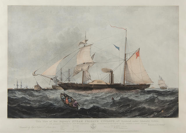 H. Papprill after Knell Her Majesty's steam frigate Cyclops off Spithead