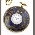 Swiss. A mid 19th century gold cased repeating Jaquemart pocket watch Case No.6774 & 303, Circa 1860 (AF)