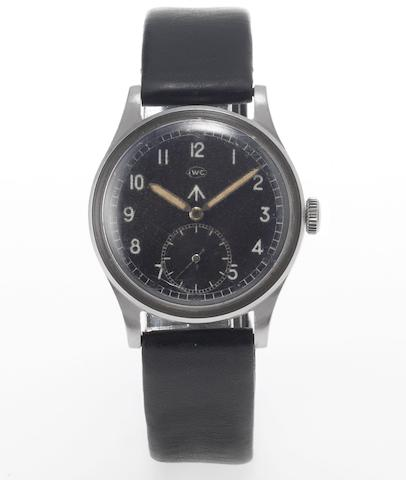 IWC. A rare stainless steel military wristwatch WWW M15505, Circa 1943