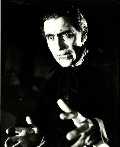 Christopher Lee as Dracula from Dracula (aka Horror of Dracula), 1958