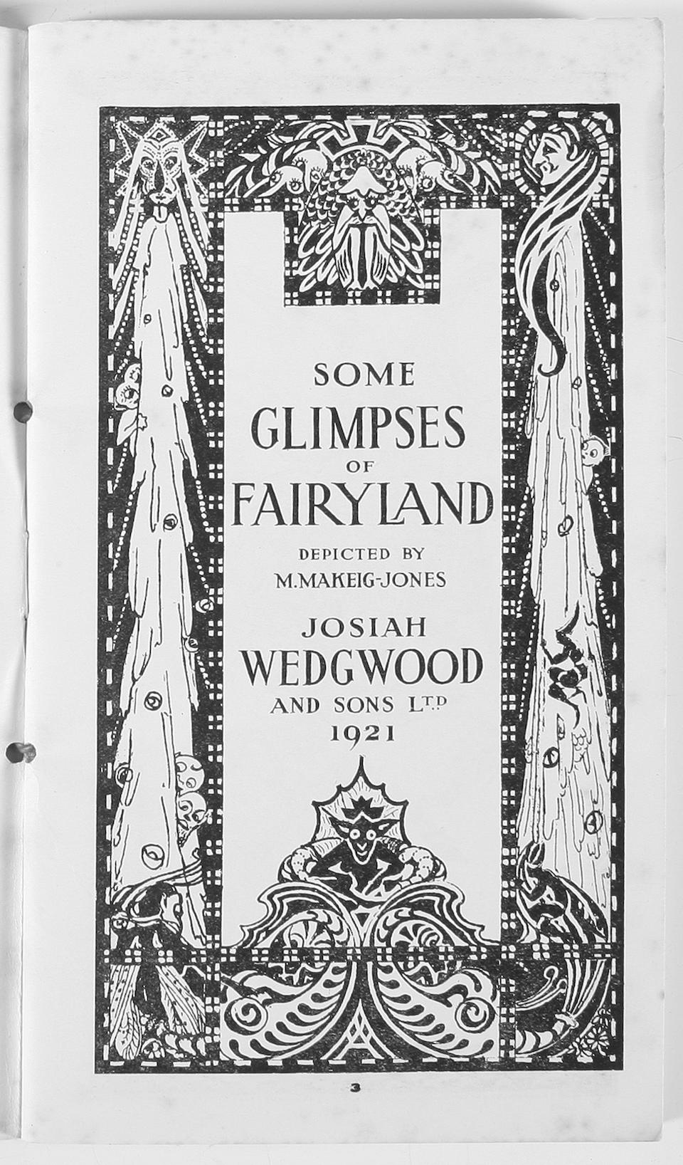 Wedgwood Fairyland Ware Catalogue: 'Some Glimpses of Fairyland Designed by M.Makeig-Jones, Josiah Wedgwood and Sons Ltd 1921'
