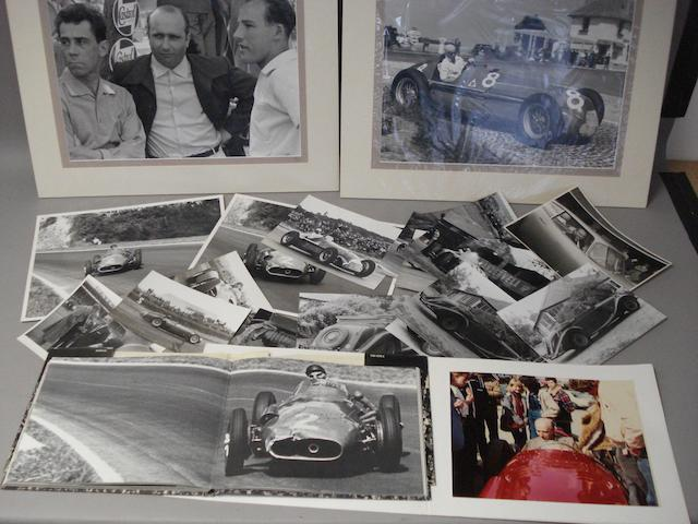 A lot of Juan Manuel Fangio related items,