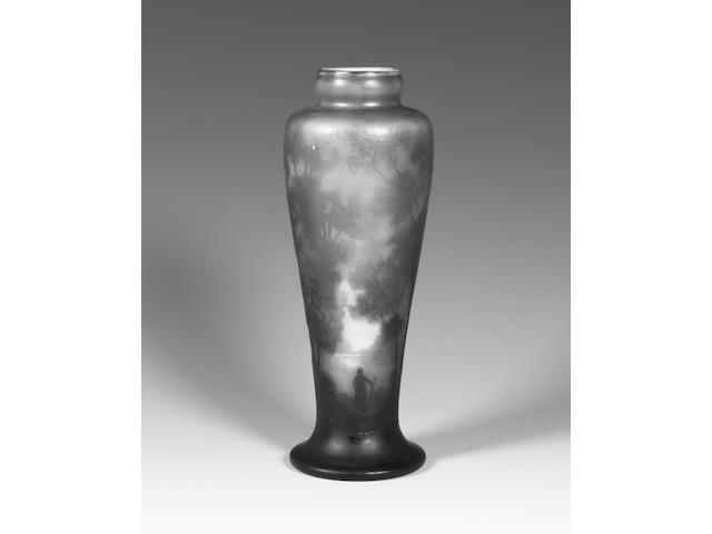 A Muller Frères cameo glass vase