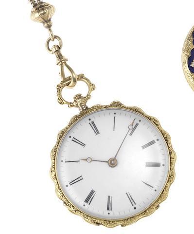 Vacheron Constantin. A late 19th century continental gold open face pocket watch