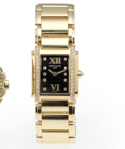 Patek Philippe. A fine lady's 18ct rose gold diamond set bracelet watch Twenty-4, Ref:4908/11R, Movement No.3291260, Recent