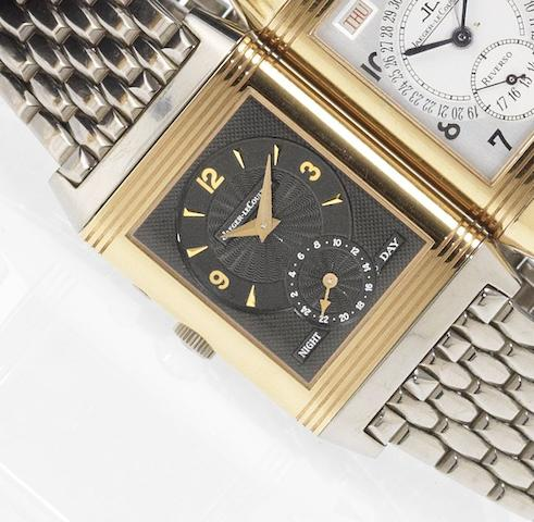 Jaeger LeCoultre. A fine limited edition 18ct white and rose gold dual dial reversible bracelet watch Reverso, Night & Day, No.37/250, Ref:270.0.54.R, Recent