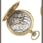 C.H.Meylan. A late 19th century 18ct gold full hunter minute repeating pocket watch Case No.5265, Circa 1895