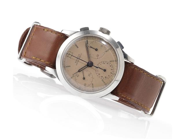 Rolex. A fine and rare stainless steel chronograph wristwatch Ref:3335, Case No.041606, Circa 1939