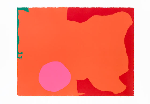 Patrick Heron (British, 1920-1999) Magenta disc and red edge Screenprint, 1970, printed in colours, on wove, signed and numbered 20/100 in pencil, 592 x 780mm (23 1/3 x 30 2/3in)(SH)(unframed)