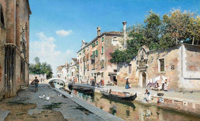 Federico del Campo (Peruvian, 1837-1923) Canale san Guiseppe, Venice