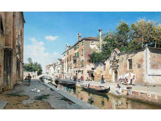 Federico del Campo (Peruvian, 1837-1923) Canale san Giuseppe, Venice
