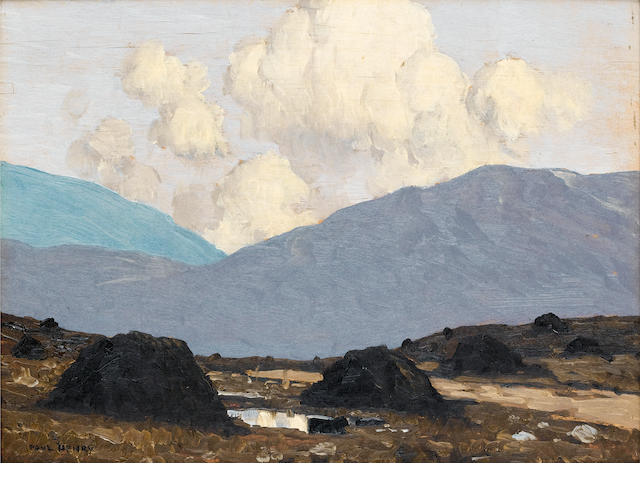 Paul Henry R.H.A. (1876-1958) Landscape with turfstacks