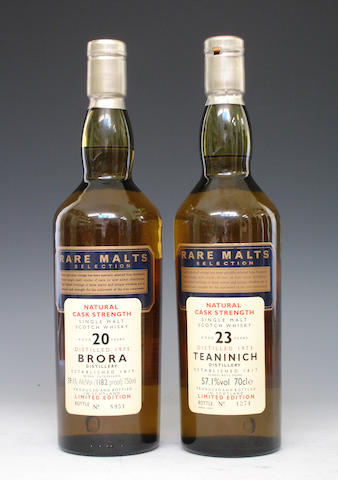 Brora-20 year old-1975  Teaninich-23 year old-1973