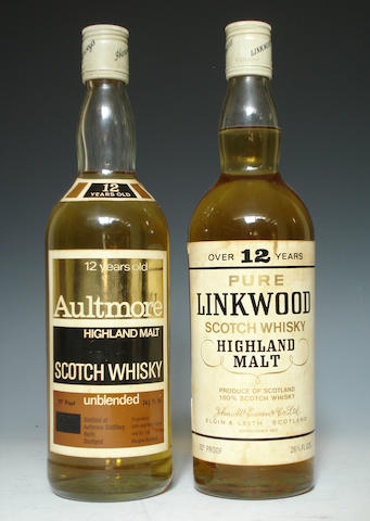 Aultmore-12 year old  Linkwood-Over 12 year old