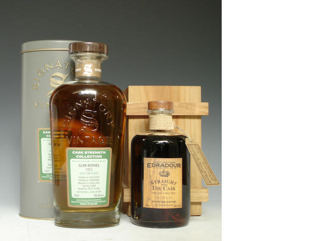 Glen Rothes-33 year old-1972Edradour-11 year old-1991