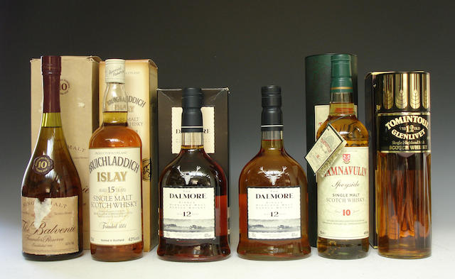The Balvenie Founders Reserve-10 year oldBruichladdich-15 year oldThe Dalmore-12 year old (2)Tamnavulin-10 year oldTomintoul-Glenlivet-12 year old