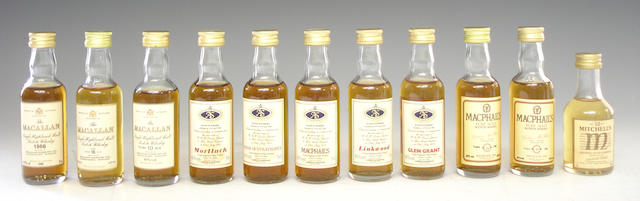 Whisky miniatures including: