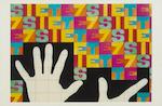 Alighiero Boetti (Italian, 1940-1994) postcard collage