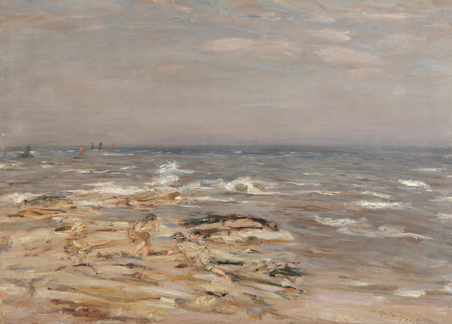 William McTaggart, RSA RSW (British, 1835-1910) children on beach