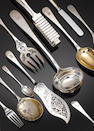 A late 19th century German silver table service of flatware and cutlery, by Walter Hermann of Halle,