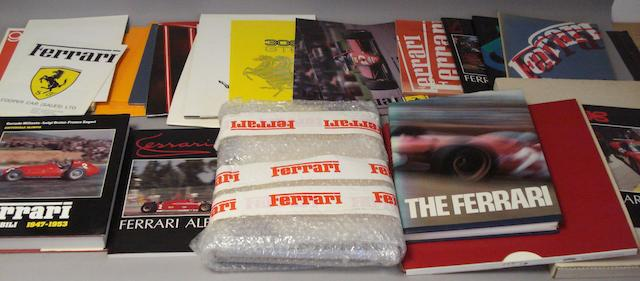 A quantity of Ferrari literature,