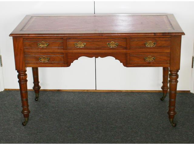 An Edwardian style mahogany desk