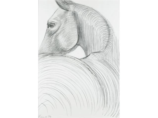 Dame Elisabeth Frink R.A. (British, 1930-1993) Horse Study 1984 99.5 x 70 cm. (39 1/2 x 27 1/2 in.)