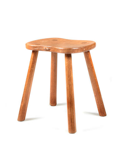 A Robert 'Mouseman' Thompson of Kilburn oak stool