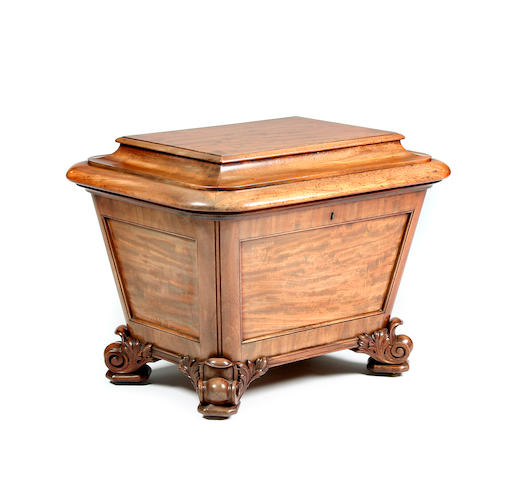 A Gillows of Lancaster William IV mahogany cellaret Stamped 'GILLOWS.LANCASTER' to the interior