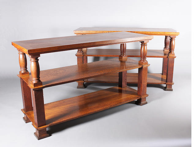 A pair of oak buffets in the style of Sir Edwin Lutyens, circa 1920