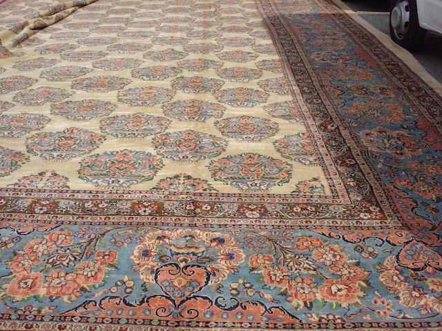 A large and impressive West Persian carpet 1130cm x 785cm
