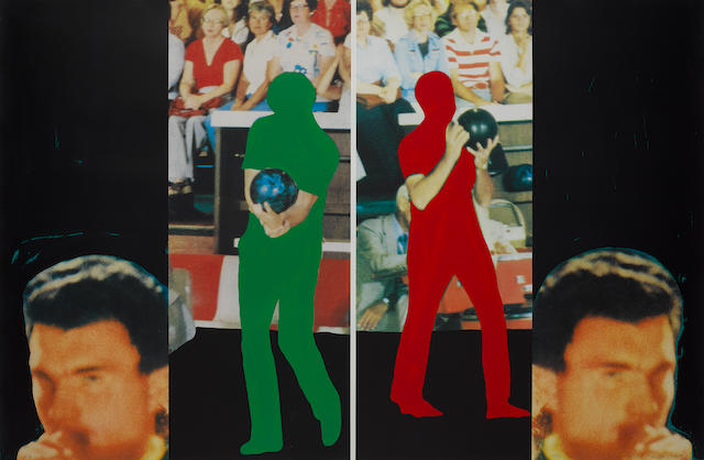 John Baldessari (American, born 1931) 'Two Bowlers (With Questioning Person)', 1994