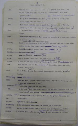 Spike Milligan: a script, 'Idiot Weekly No 2', 1950s,