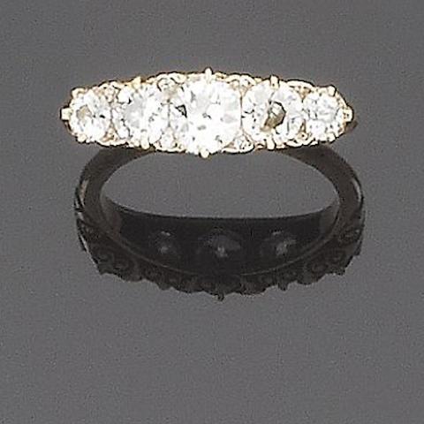 A diamond five-stone ring,
