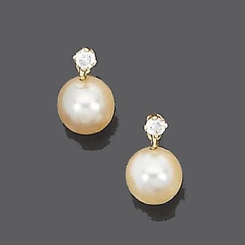 Three pairs of gem-set earrings