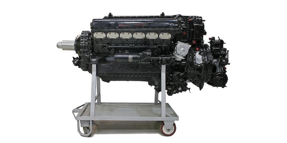 A Rolls-Royce Merlin V12 Aero engine,