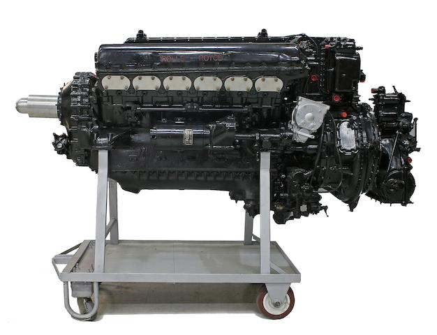 A Rolls-Royce Merlin V12 Aero engine,